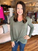 Out of Control Top in Olive