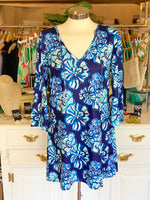 Totally Tropics Tunic in Blue