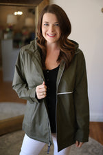 Charles River New Englander Rain Jacket in Olive