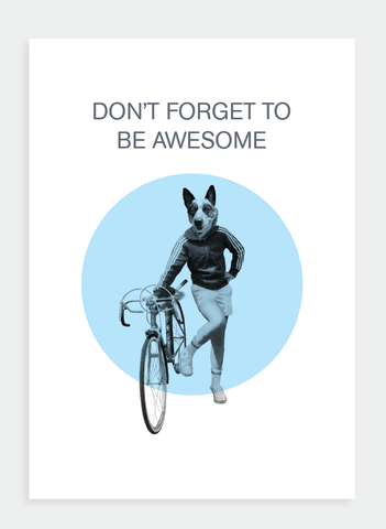 AA13 Don't forget to be awesome  (Pack of 6)
