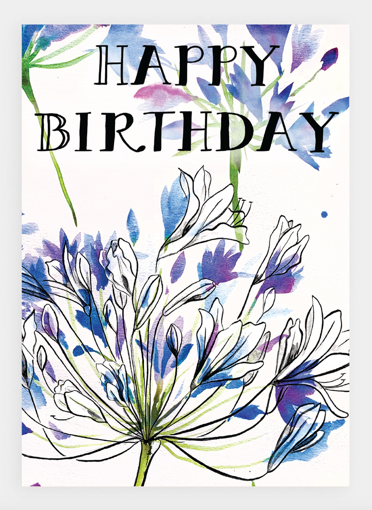 JM25 Happy Birthday Floral (pack of 6)