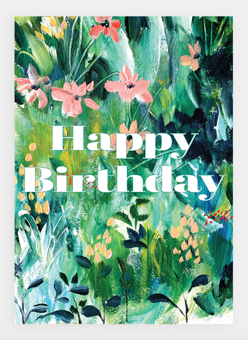 JM26 Happy Birthday Floral