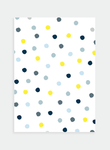 MC25 Blue & Yellow dots  (Pack of 6)