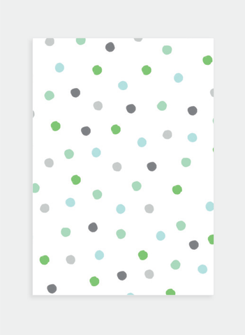 MC63 Green & Blue dots  (Pack of 6)