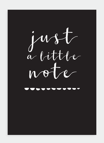MM127 Just a little note (Pack of 6)