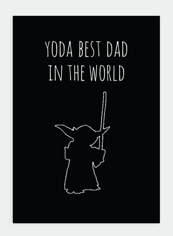 MM134 Yoda Best Dad... (Pack of 6)