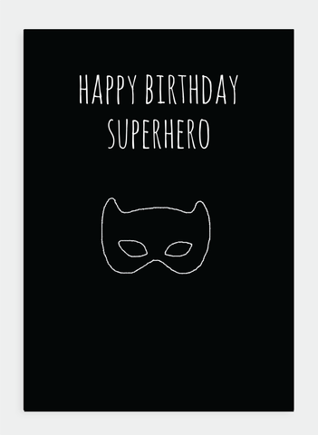 MM135 Happy Birthday Superhero  (Pack of 6)