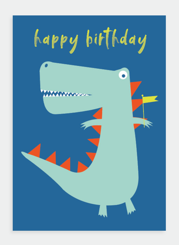 MM148 Happy Birthday Dinosaur (Pack of 6)