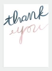 PK001 Thank You Cards - 6 Pack