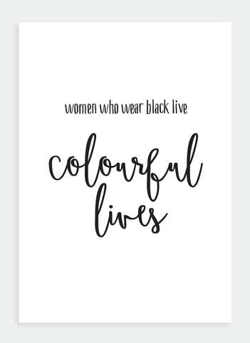 WS28 Women who wear black... (Pack of 6)