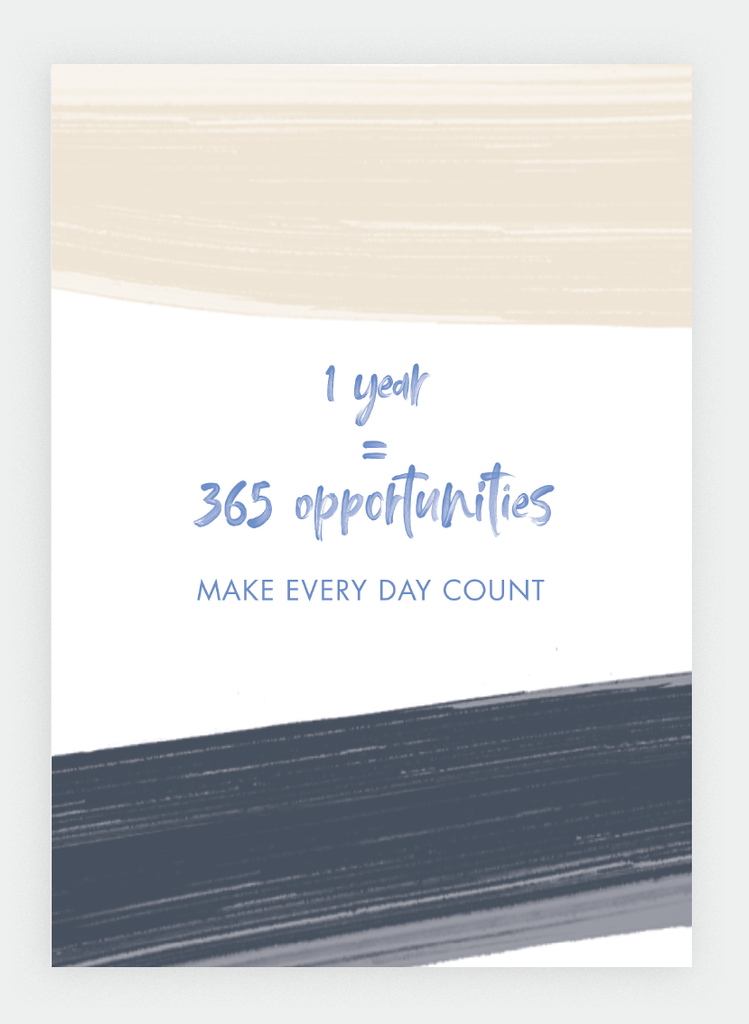 WS31 One Year = 365 opportunities