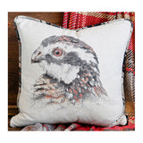 Head Profile Bobwhite Quail Pillow
