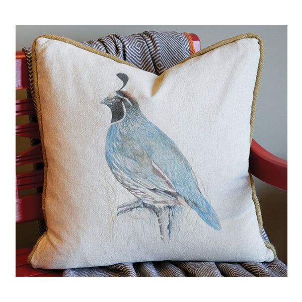 California Quail Pillow