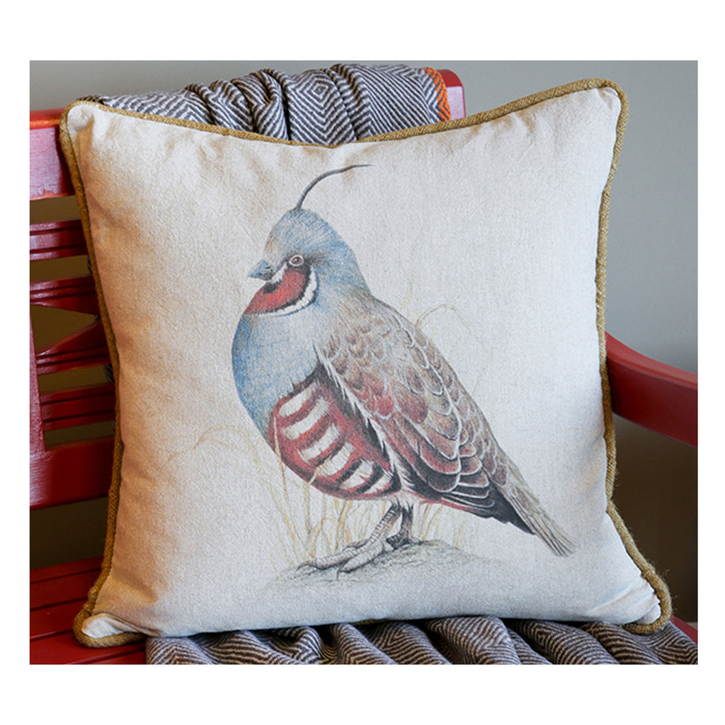 Mountain Quail Pillow