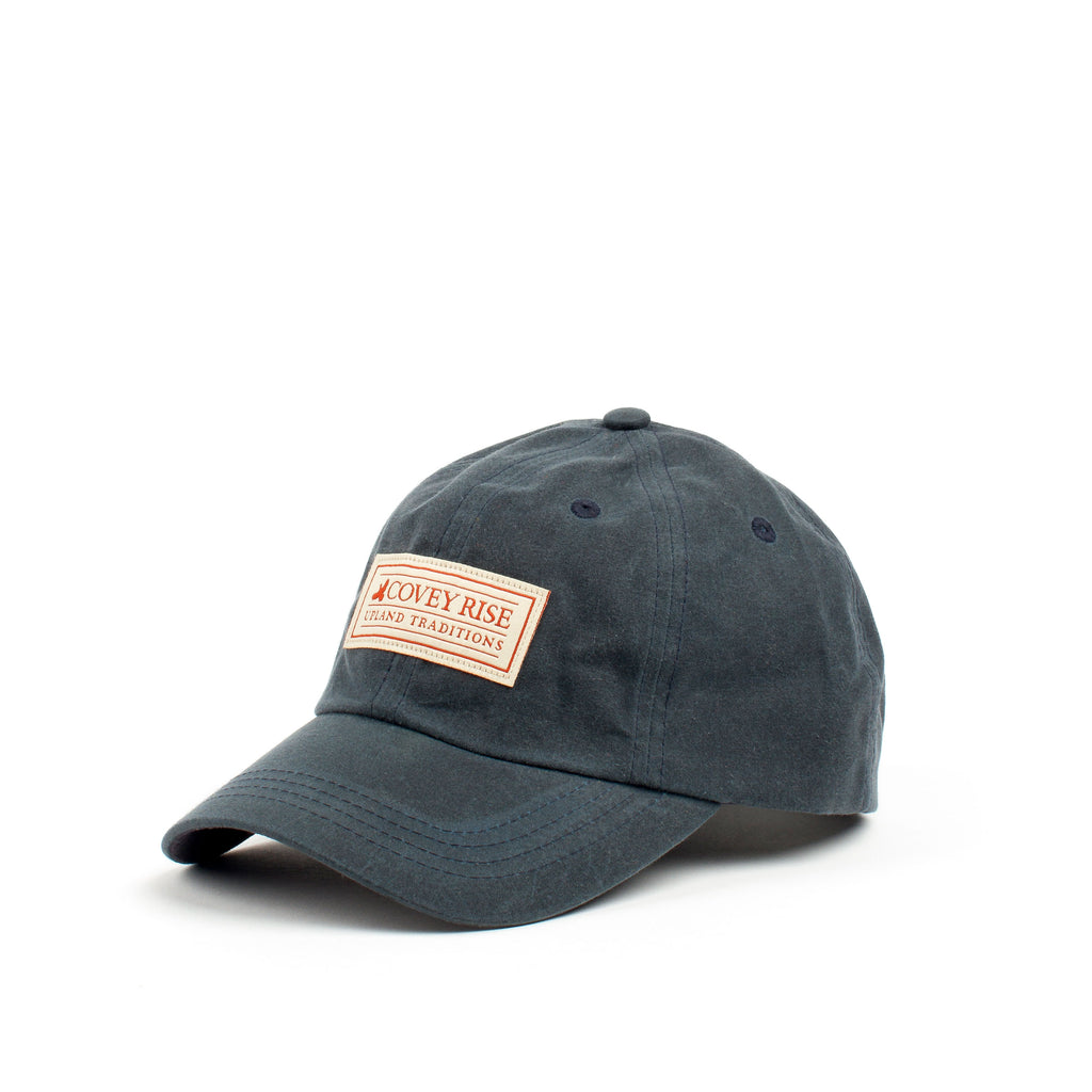 Navy Waxed Cotton Hat