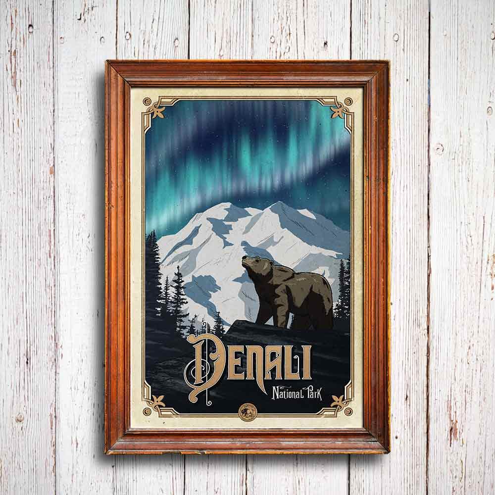 Denali National Park Poster