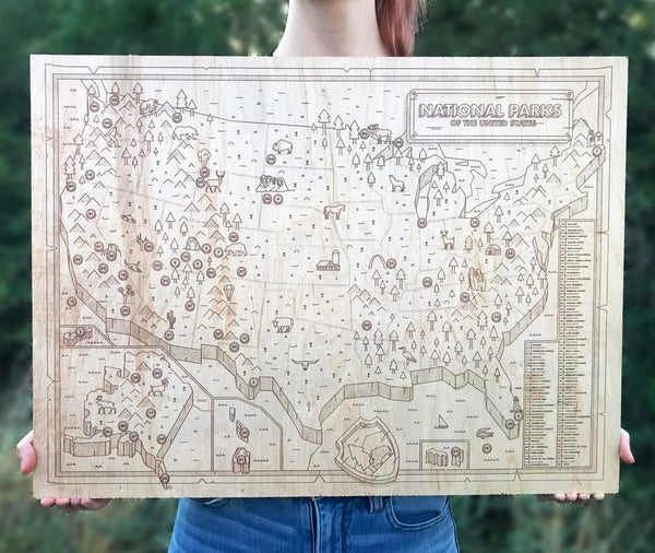 wood national park map