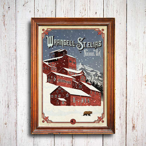 National Park Posters Series: Wrangell St Elias National Park Poster
