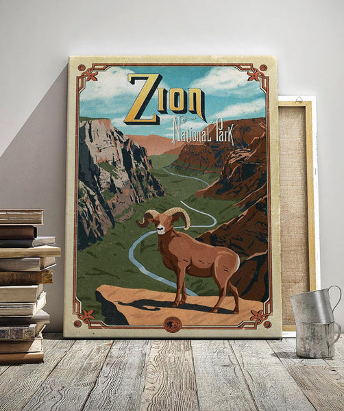 National Park Posters Series: Zion National Park Poster