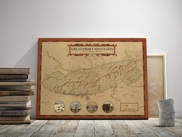 Great Smoky Mountains Map