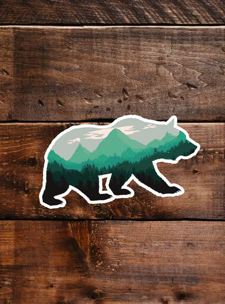 Grizzly Bear Sticker, waterproof vinyl for Laptop, Car Window, cooler, bumper and water bottle.