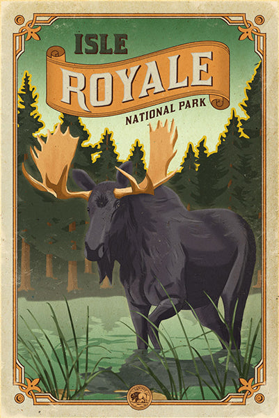 Isle Royale National Park Poster