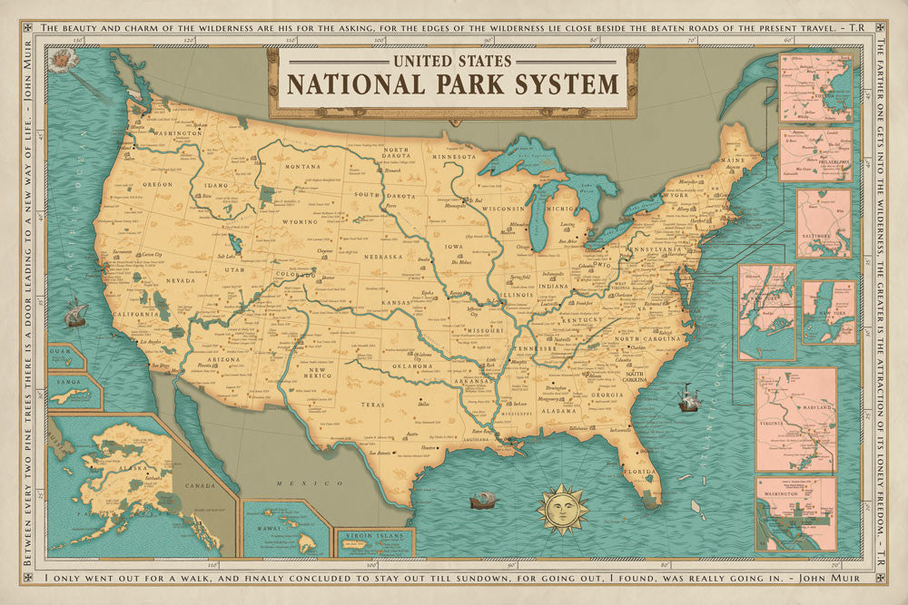 National Park System Units Map – hikeanddraw