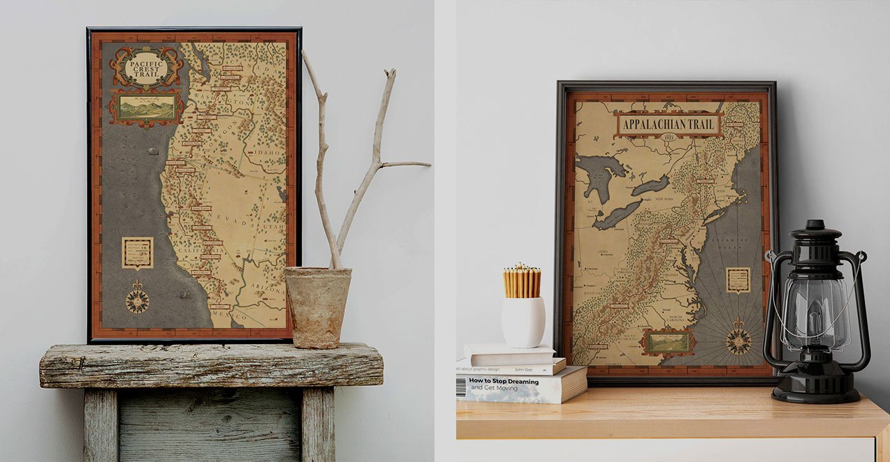 Thru-Hikes Maps