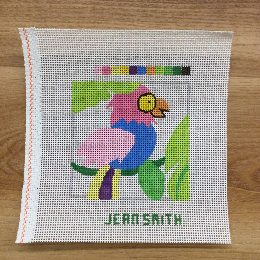 Small Square Parrot Canvas