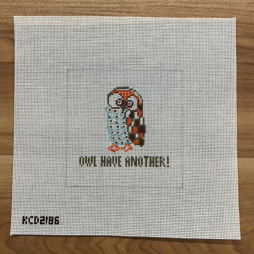 Owl Have Another Square Canvas - KC Needlepoint