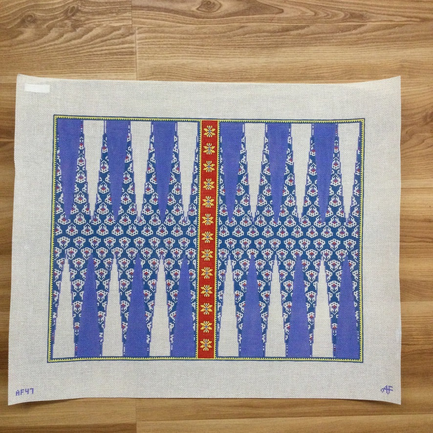 Provence Backgammon Board Needlepoint Canvas - needlepoint