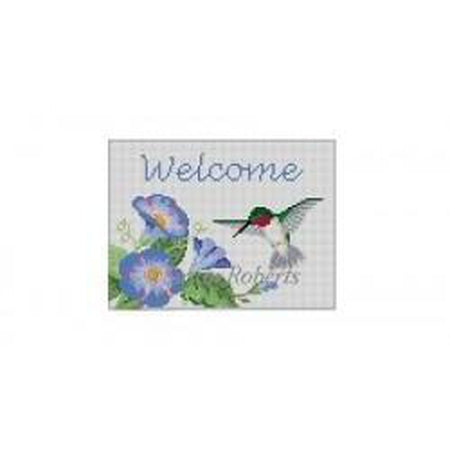 Hummingbird Welcome Canvas