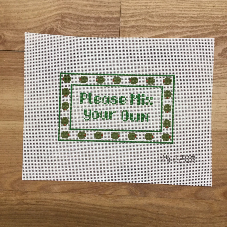 Please Mix Your Own Canvas - KC Needlepoint