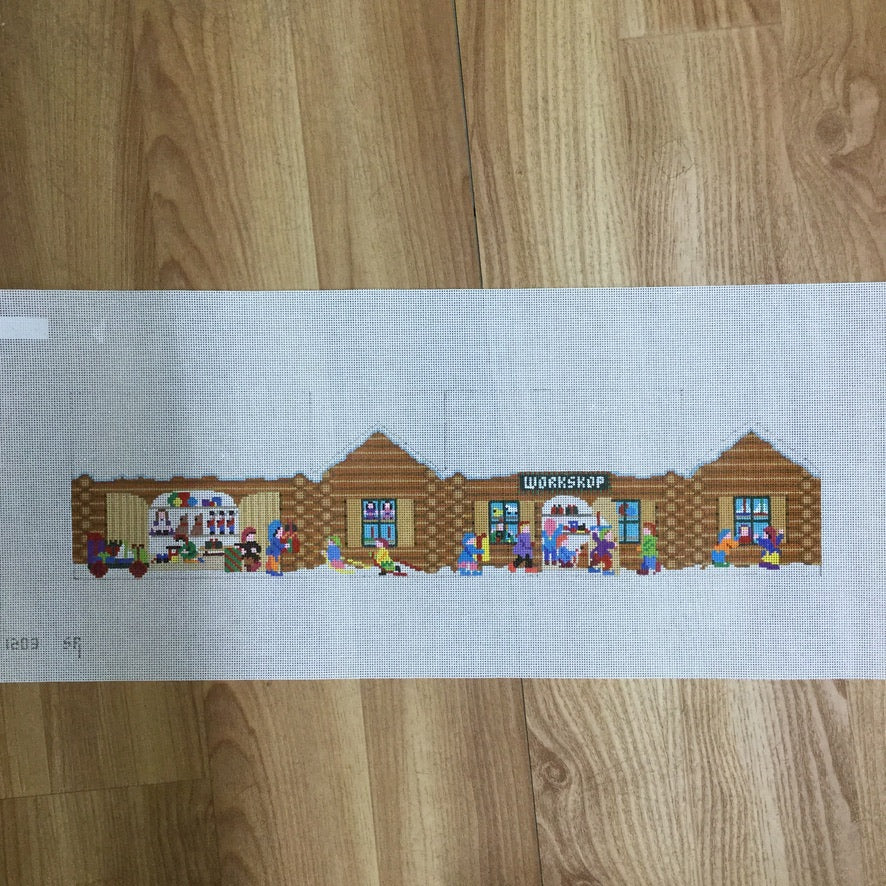 Santas's Village, Workshop House - needlepoint