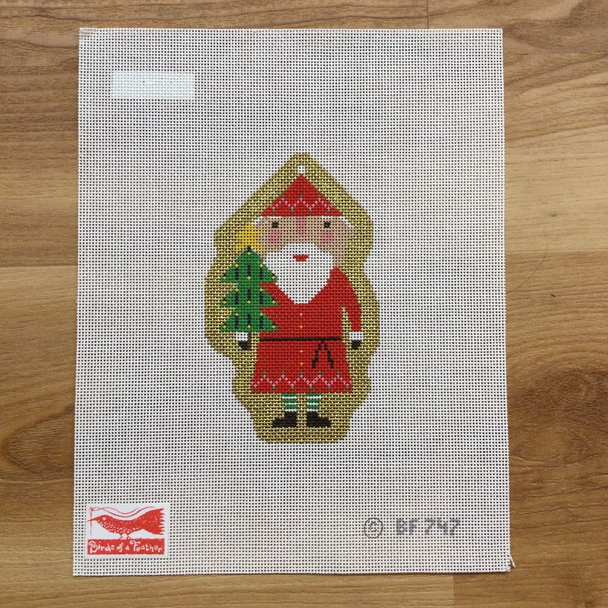 Blessed Home Santa Canvas - KC Needlepoint