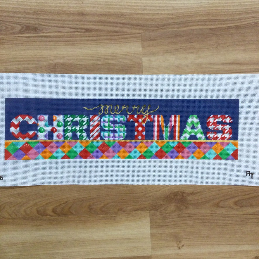 Merry Christmas Canvas - needlepoint