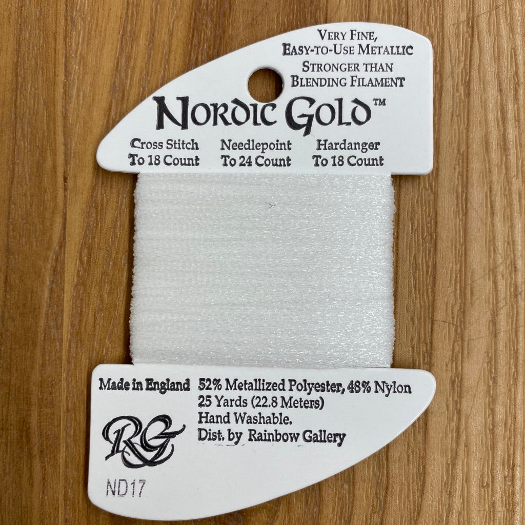 Nordic Gold ND17 Snow - KC Needlepoint