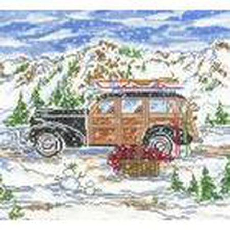 Winter Woody Needlepoint Canvas - KC Needlepoint
