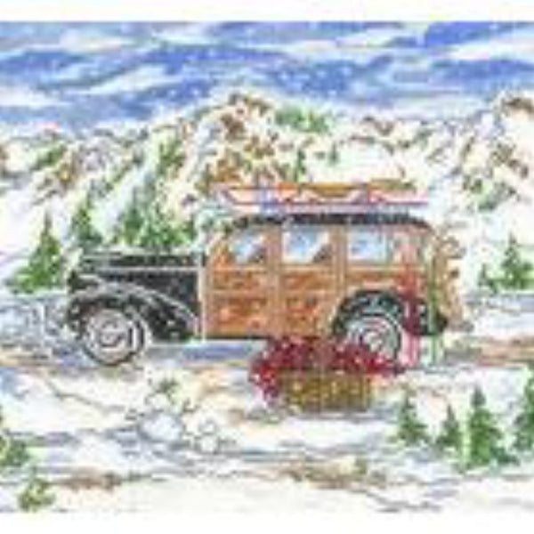 Winter Woody Large Needlepoint Canvas - needlepoint
