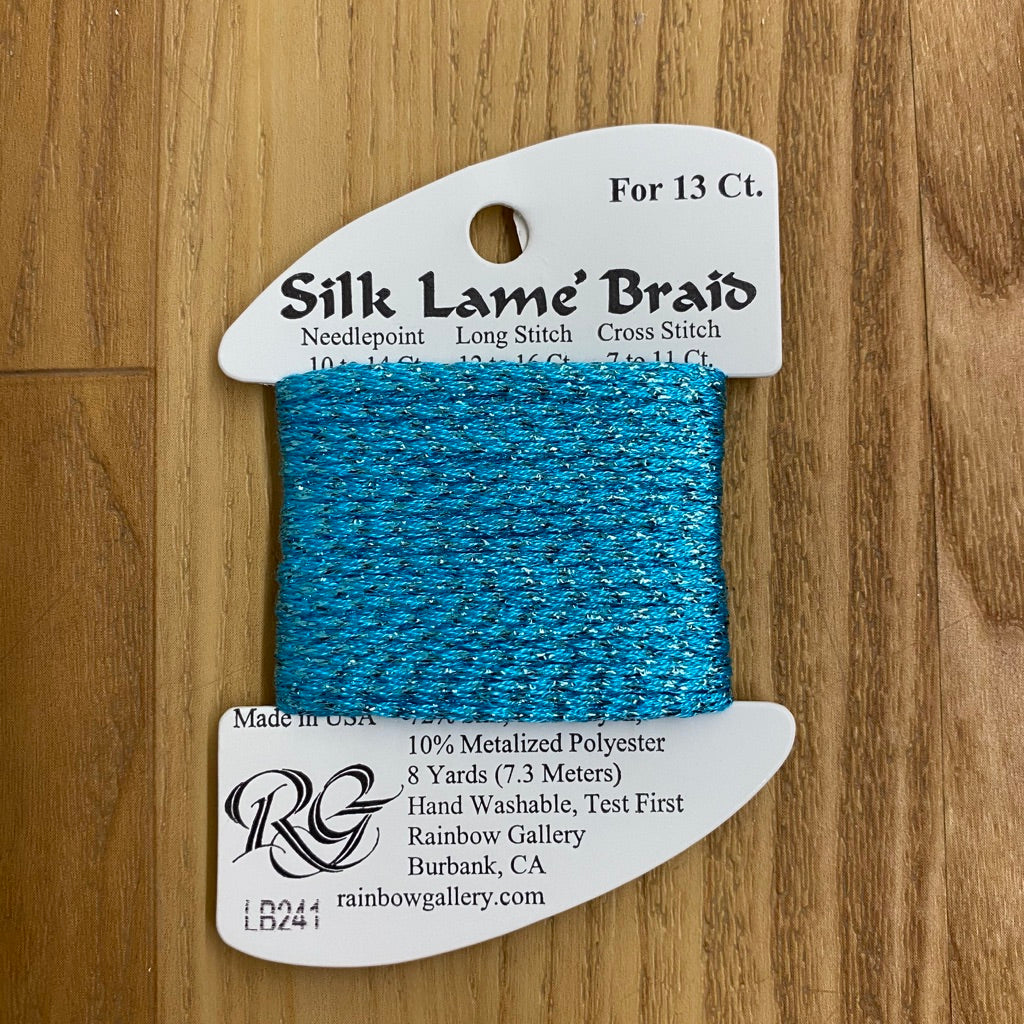 Silk Lamé Braid LB241 Scuba Blue - needlepoint