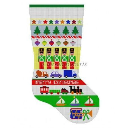 Soldier Stripe Stocking Canvas - needlepoint