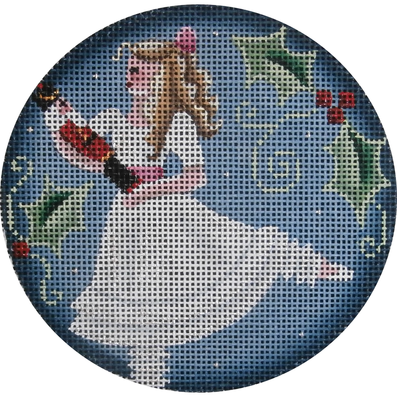 Clara Round Canvas-Needlepoint Canvas-Rebecca Wood Designs-KC Needlepoint