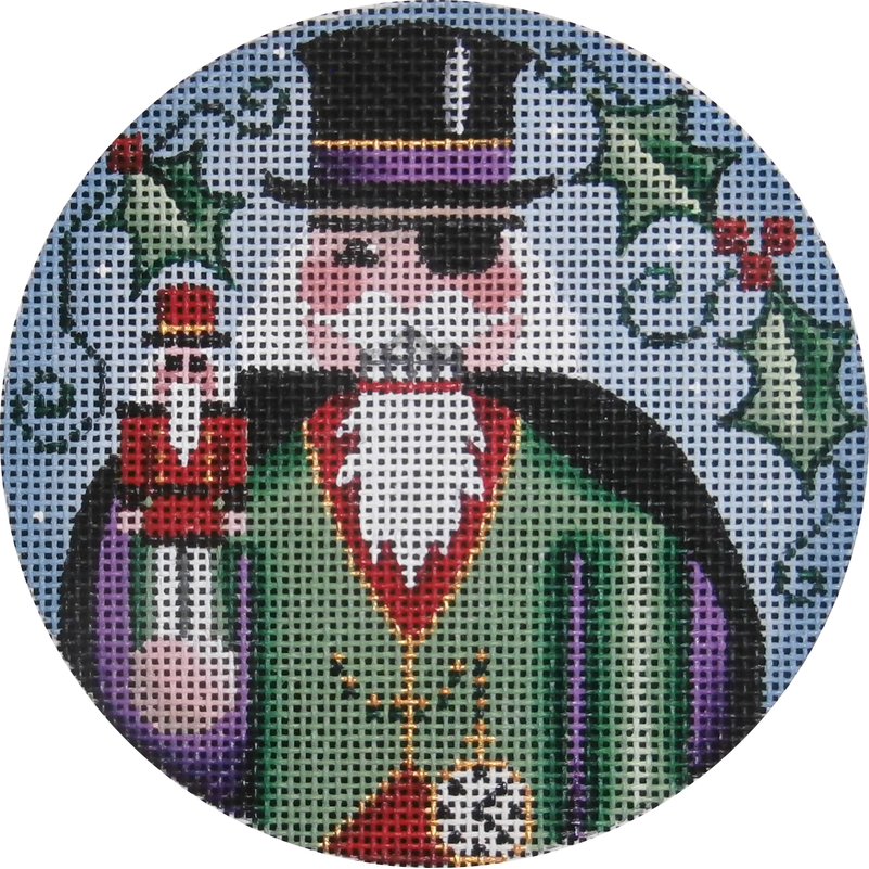 Herr Drosselmeyer Round Canvas-Needlepoint Canvas-Rebecca Wood Designs-KC Needlepoint