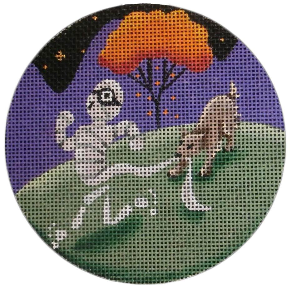 Unwrapped Round Canvas-Needlepoint Canvas-Rebecca Wood Designs-KC Needlepoint