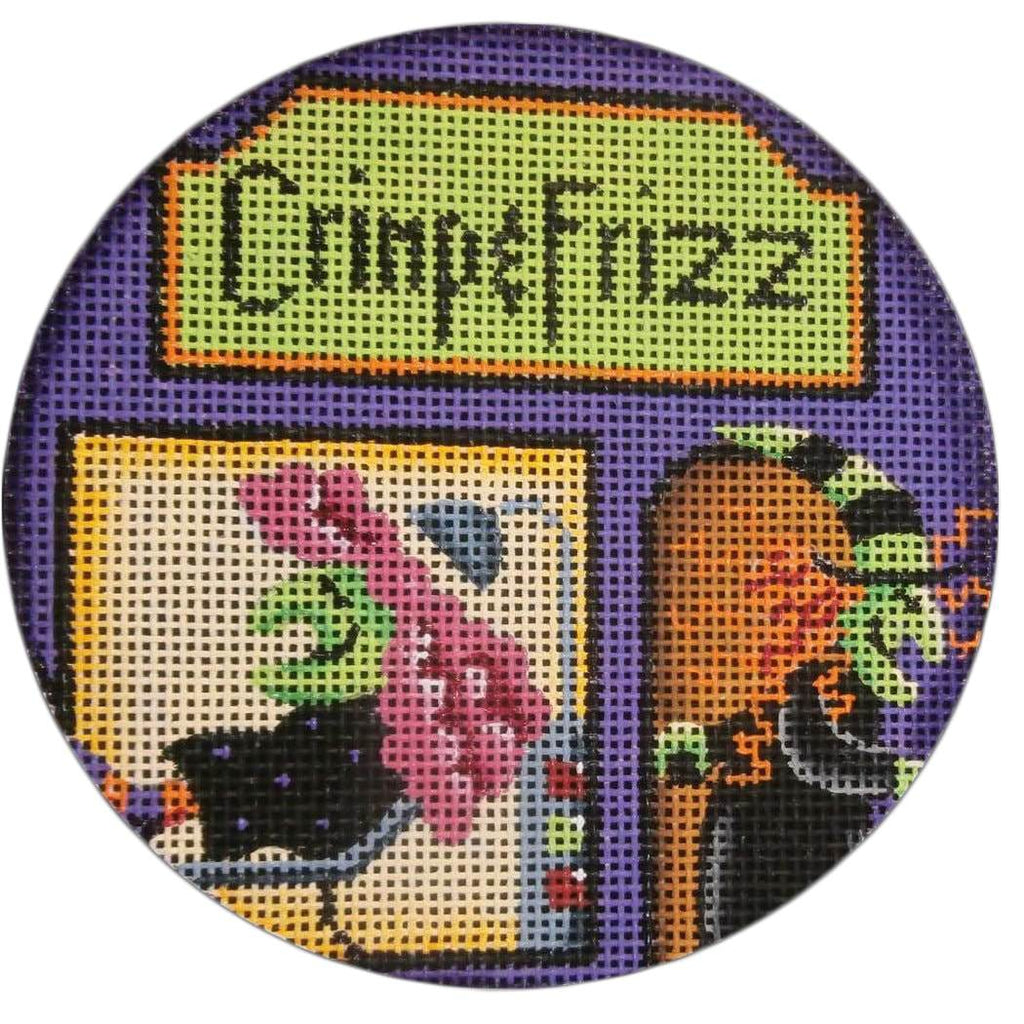 Crimp & Frizz Round Canvas-Needlepoint Canvas-Rebecca Wood Designs-KC Needlepoint