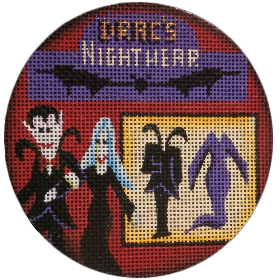 Drac's Nightware Round Canvas-Needlepoint Canvas-Rebecca Wood Designs-KC Needlepoint