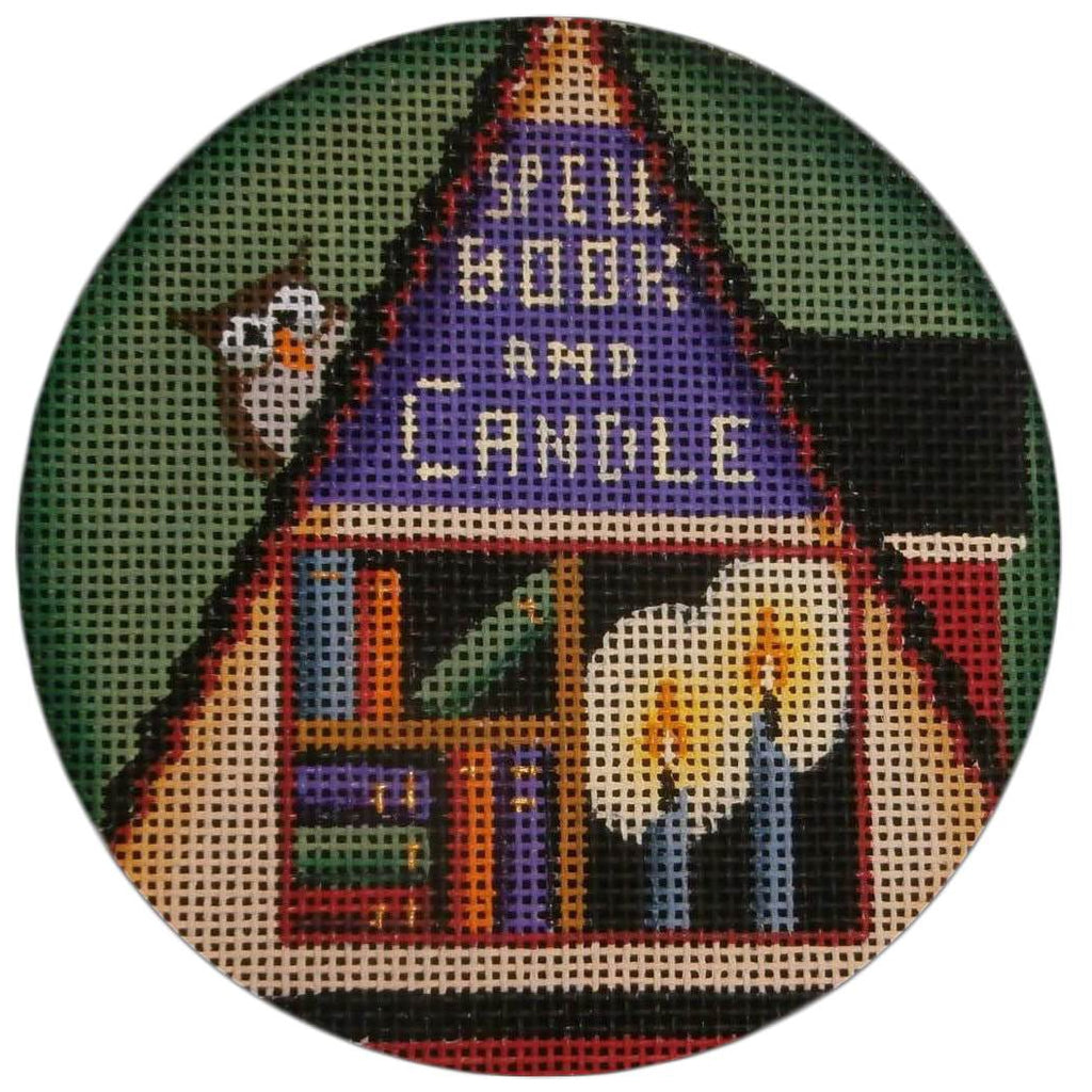 Spell, Book and Candle Round Canvas-Needlepoint Canvas-Rebecca Wood Designs-KC Needlepoint