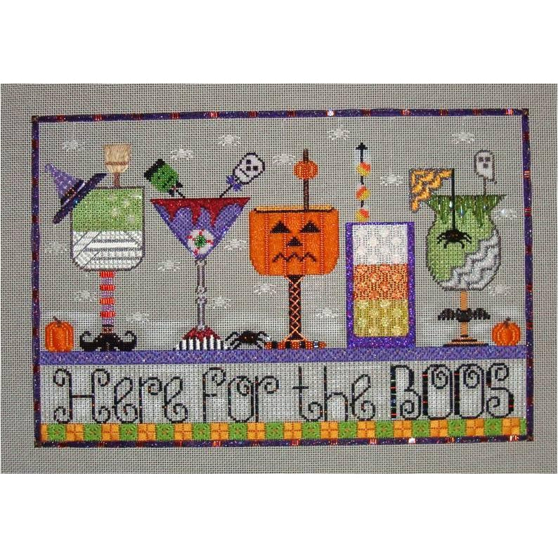 Here for the Boos Canvas/Stitch Guide - needlepoint