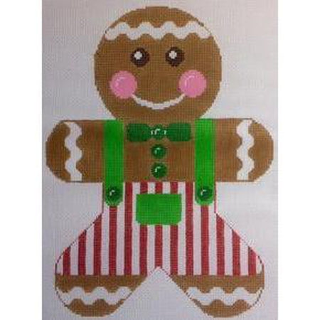 Gingerbread Boy Canvas-Needlepoint Canvas-Rachel Donley-KC Needlepoint