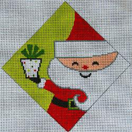 Retro Santa Canvas-Needlepoint Canvas-Patti Mann-KC Needlepoint
